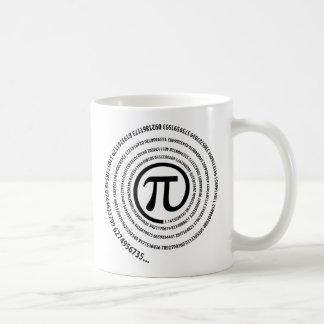 No sinal do Pi, versão espiral Caneca De Café