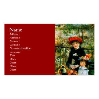No terraço por Renoir Modelos Cartoes De Visitas