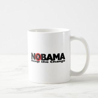 NoBama: Mantenha a mudança Caneca De Café