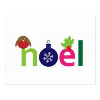 Noel festivo cartão postal