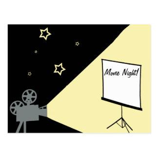 noite de cinema sob as estrelas cartão postal