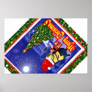 Noite de Natal bem-vinda da banana Pôster