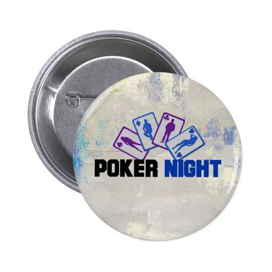 Noite do póquer com cartões de jogo bóton redondo 5.08cm