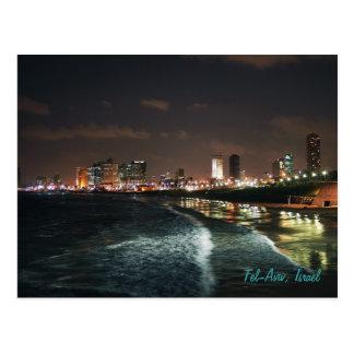 Noite em Tel Aviv, Israel Cartão Postal