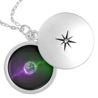 Noite estelar colar medalhão