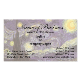 Noite estrelado por Vincent van Gogh Cartões De Visitas