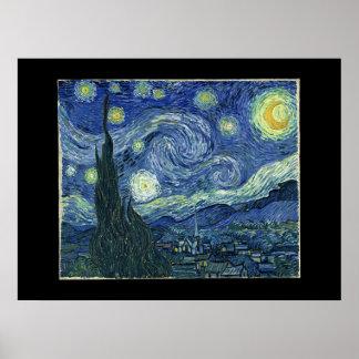 Noite estrelado impressão