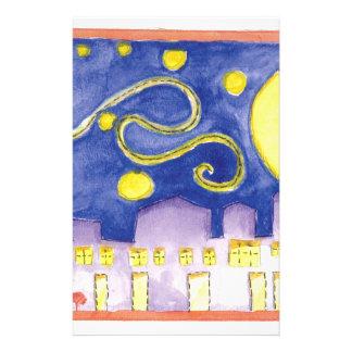 Noite estrelado trocista & café de Van Gogh Papelaria
