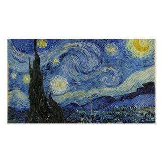 Noite estrelado Van Gogh Cartão De Visita