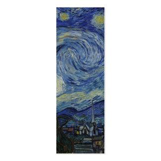 Noite estrelado Van Gogh Cartão De Visita Skinny