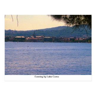 Noite pelo lago Como Cartão Postal