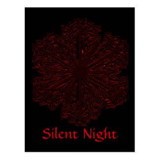 Noite silenciosa cartão postal