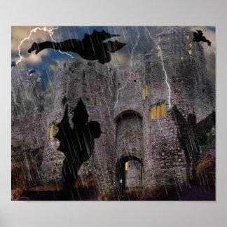 Noite tormentoso no castelo em um poster