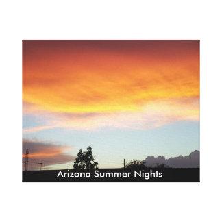 Noites de verão da arizona em canvas