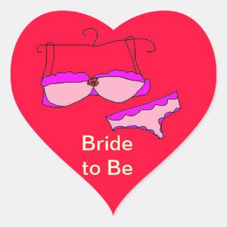 Noiva a ser etiquetas adesivo coração