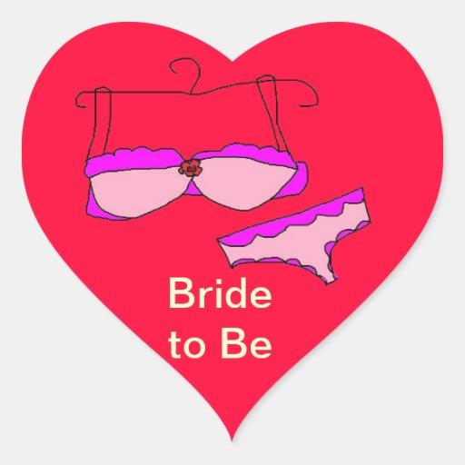 Noiva a ser etiquetas adesivo de coração