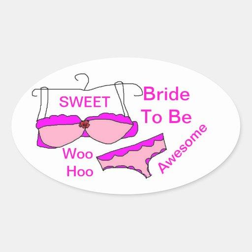 Noiva a ser etiquetas ovais adesivos oval