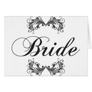 Noiva Cartão Comemorativo