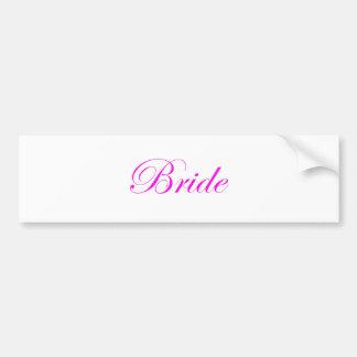 Noiva-Cor-de-rosa Adesivo Para Carro