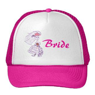 Noiva cor-de-rosa do boné de beisebol