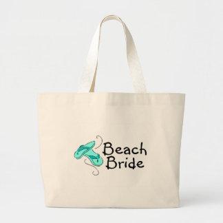 Noiva da praia (casamento de praia) bolsas para compras