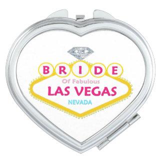 NOIVA do espelho compacto fabuloso de Las Vegas