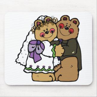 Noiva do urso e noivo do urso mouse pad