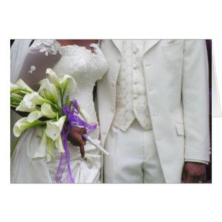 Noiva & noivo do afro-americano cartão comemorativo