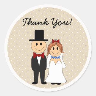 Noiva & noivo que Wedding fora das etiquetas