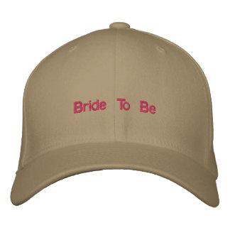 Noiva para wedding o chapéu boné bordado