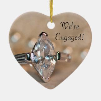 Noivado do anel de diamante do Marquise Ornamento De Cerâmica