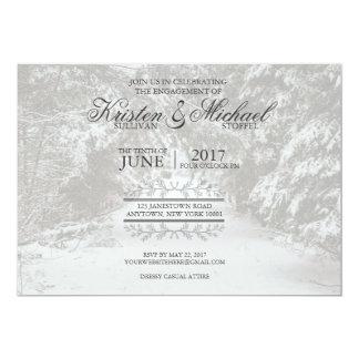 Noivado rústico convite 12.7 x 17.78cm