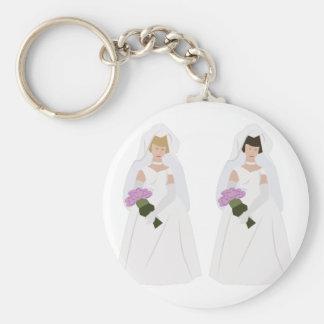 Noivas do casamento gay chaveiro