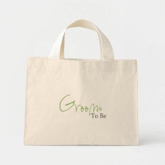 Noivo a ser (roteiro verde) bolsa de lona