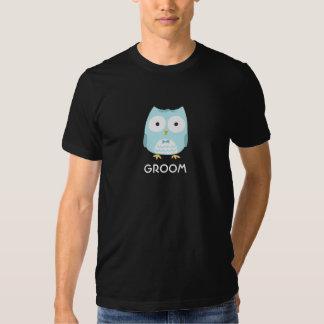 Noivo da coruja - design do divertimento com texto t-shirts