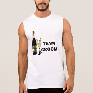Noivo da equipe (champanhe) camisa sem mangas