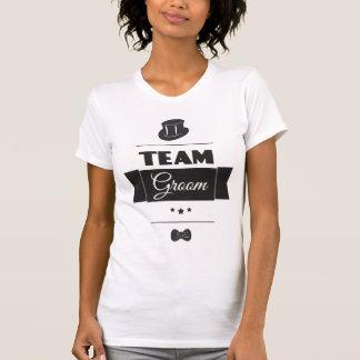 Noivo da equipe camiseta