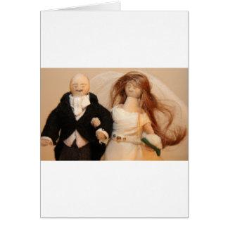 Noivos Cartão Comemorativo