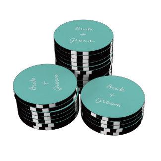 Noivos - microplaquetas de póquer personalizadas