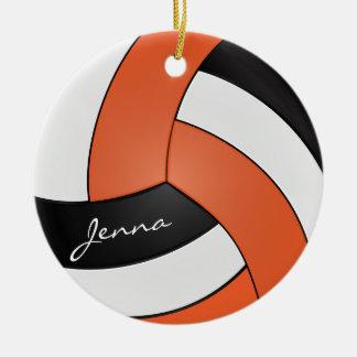 Nome alaranjado, branco e azul do voleibol | DIY Ornamento De Cerâmica