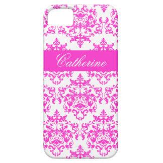 Nome branco cor-de-rosa das meninas do damasco capa barely there para iPhone 5