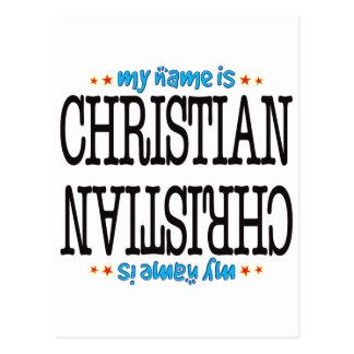 Nome cristão cartão postal