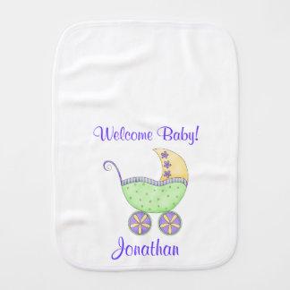 Nome da boa vinda da carruagem do carrinho de bebê paninhos para bebês