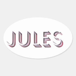 Nome da etiqueta de Jules