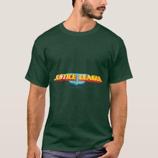 Nome da liga de justiça e logotipo finos do tshirts