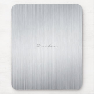 Nome de alumínio escovado do Almofada-Costume do r Mouse Pad