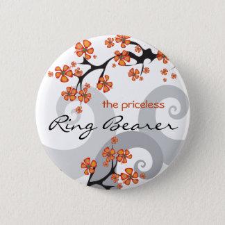 Nome de etiqueta/botão tropicais do casamento do bóton redondo 5.08cm