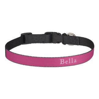 Nome de rotulação branco cor-de-rosa escuro correias para cachorros