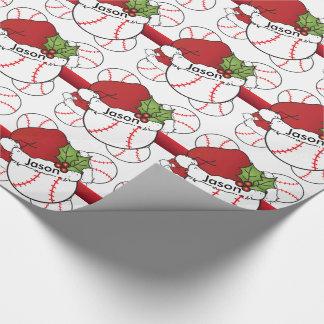 Nome do basebol | DIY do Natal do chapéu do papai Papel De Presente