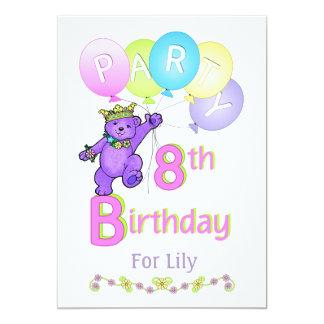 Nome do costume da festa de aniversário da convite 12.7 x 17.78cm